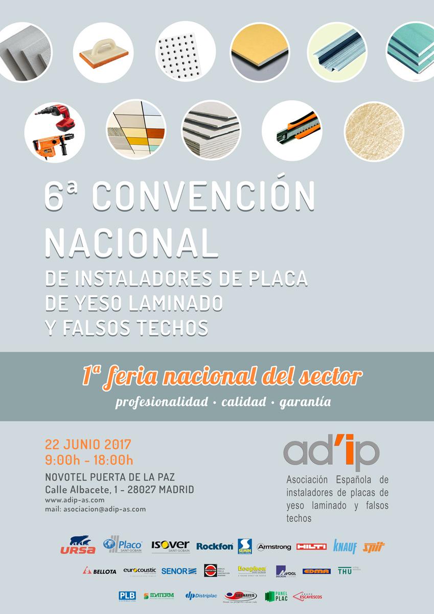 Yesyforma participará en la 6ª Convecnión Nacional de instaladores de placa de yeso laminado y falsos techos